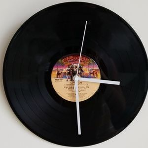 Vintage KISS Love Gun Vinyl Clock
